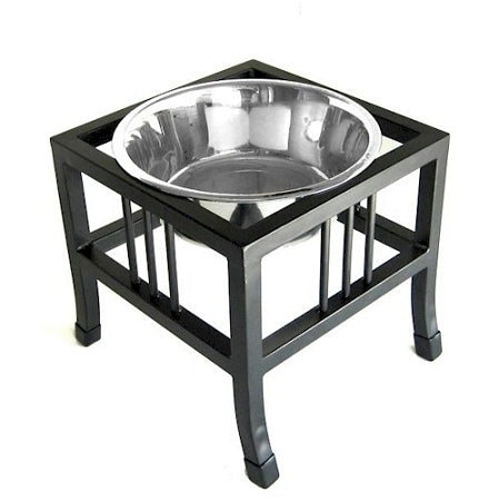 PetsStop Baron Heavy Duty Raised Dog Bowl   Large