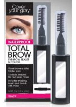 Cover Your Gray  Waterproof Total Brow Eyebrow Sealer & Color, Black