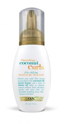 OGX Quenching Coconut Curls Curling Frizz, Defying Moisture Mousse