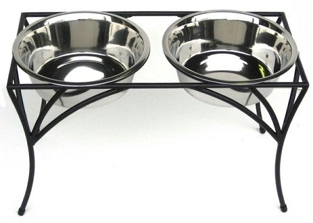 PetsStop Arbor Double Diner Raised Feeder   Medium