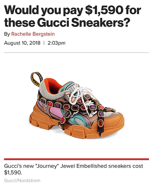 WOULD YOU SPLURGE ON THESE GUCCI SNEAKERS