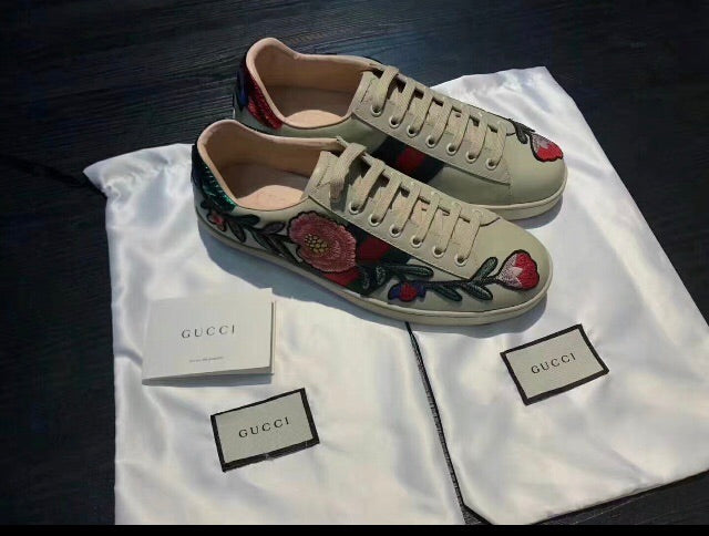 Gucci Inspired Flower Ace Sneaker