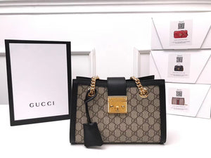 Gucci Inspired Padlock Small GG Shoulder Bag