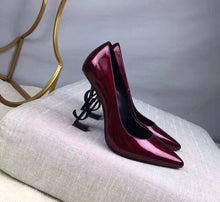 YSL Inspired Opyum Patent Leather Letter Pump Heel