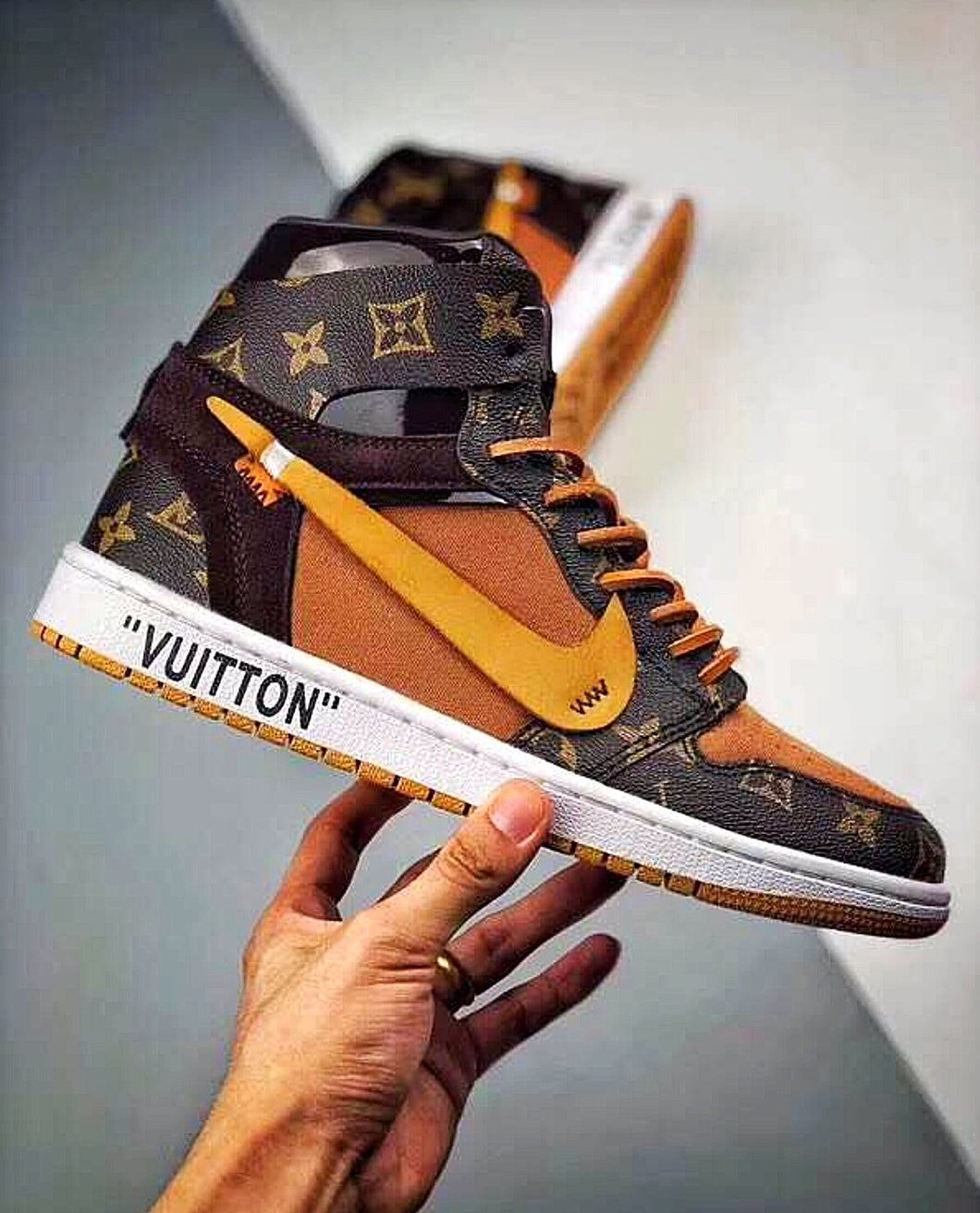 Off White X Air Jordan X Louis Vuitton Inspired Special Edition Sneakers