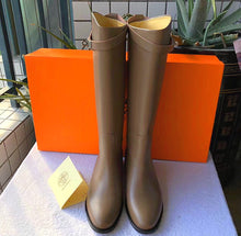 Hermes Inspired Kelly Leather Jumping Boot