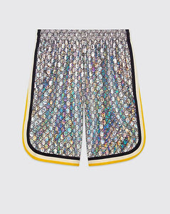 Gucci Inspired Laminated Sparkling GG Jersey Short Set