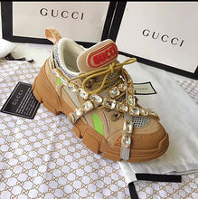 Gucci Inspired Crystal Journey Sneakers with Removable Straps
