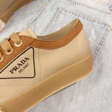 Prada Inspired Canvas Logo Low Top Sneaker