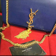 YSL Inspired Blue Kate Satchel Tassel Bag