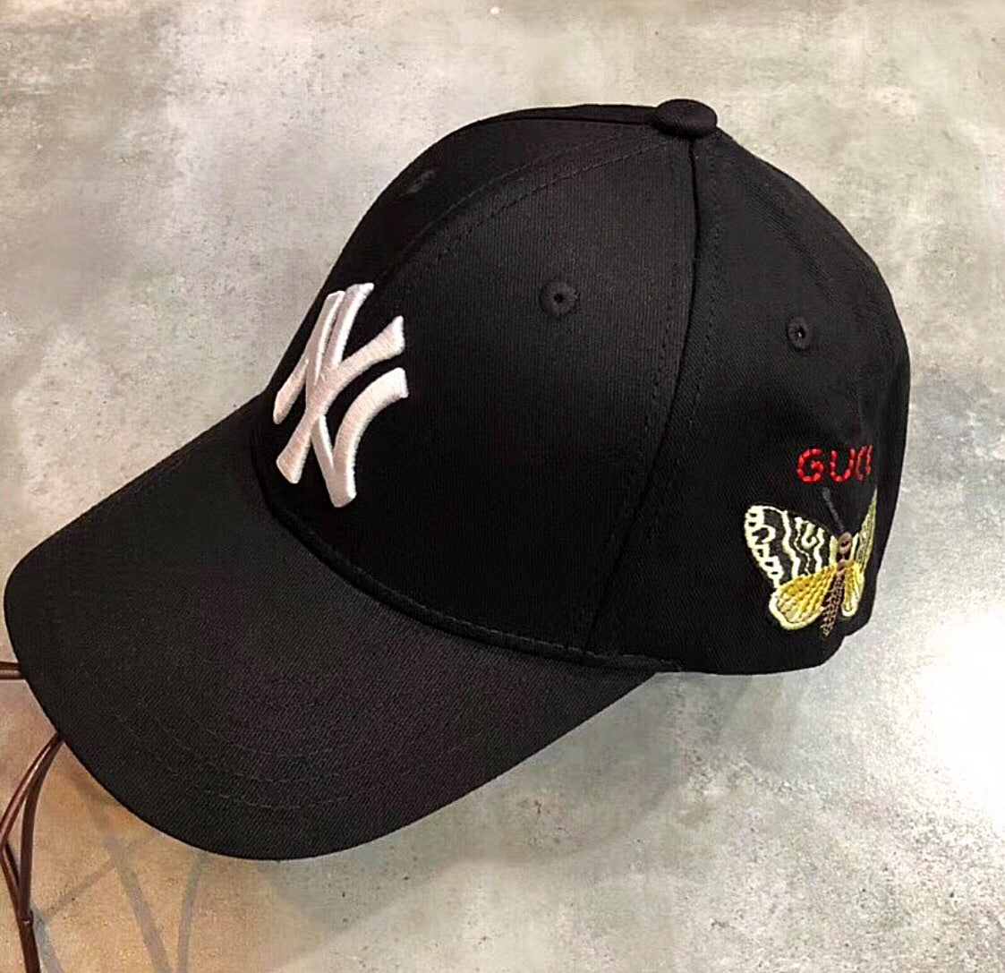 a80a6e5f0b69 Gucci Inspired Baseball Cap Hat with Yankees Patch