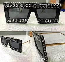 Gucci Inspired Hollywood Forever Crystal Embellished Sunglasses