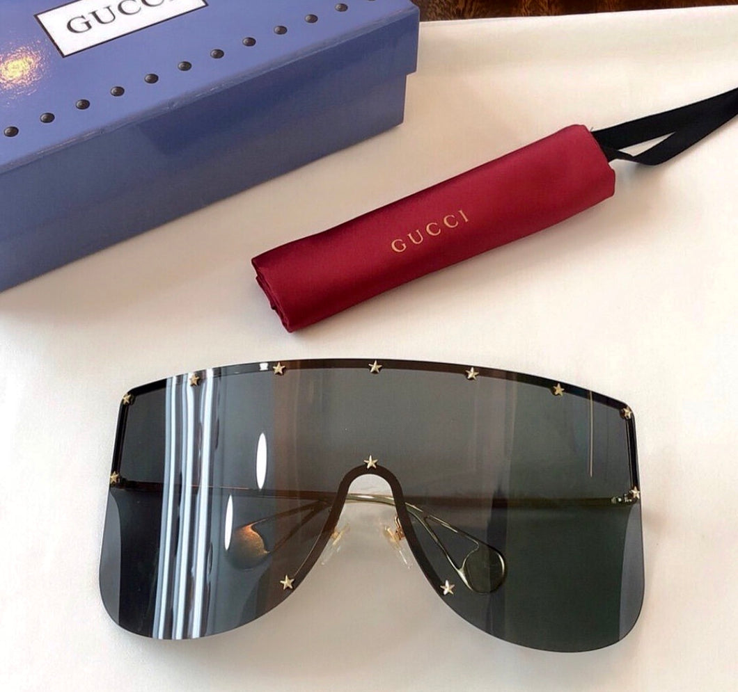 Gucci Inspired Mask Sunglasses Star Rivets