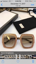 Gucci Inspired Oversize Square Frame Metal Sunglasses (GG0115S)