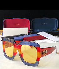 Gucci Inspired Square Frame Acetate Sunglasses