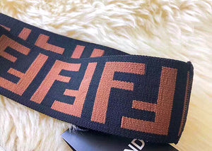 Fendi Inspired Large Double Knit Headband