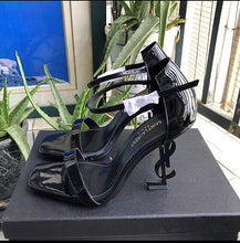 YSL Inspired Opyum Letter Heel Open Toe Sandals