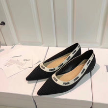 Dior Inspired J'Adior Embroidered Ballet Flat Shoes