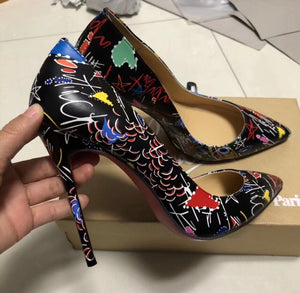 Christian Louboutin Inspired Loubitag Graffiti Pigalle Pumps