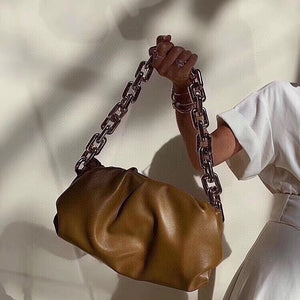 Bottega Veneta Inspired Chain Pouch Bag