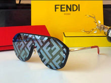 Fendi Inspired Logo Shield Sunglasses