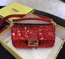 Fendi Inspired Sequin Baguette Handbag