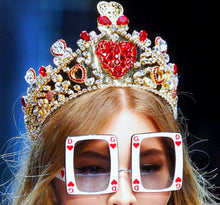 Dolce Gabbana Inspired Oversized Square Heart  Sunglasses
