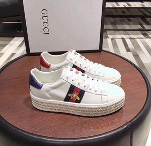 Gucci Inspired Ace Crystal Platform Sneaker