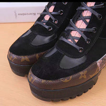 Louis Vuitton Inspired Laureate Python Snake Skin Lace Up Desert Boots