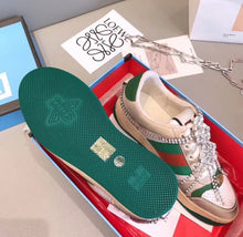 Gucci Inspired Screener Jeweled Low Top Sneaker