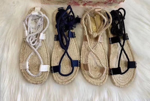 Dior Inspired DiorExpress Braided Thong Sandals