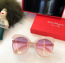 Salvatore Ferragamo Inspired Oversize Cutout Rimless Sunglasses