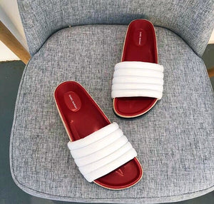 Isabel Marant Inspired Hellea Quilted Flats Slides