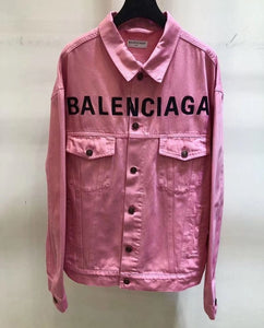Balenciaga Inspired Logo Denim Jacket