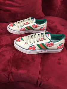 Gucci Inspired Off White GG Apple Tennis Sneakers