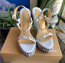 Christian Louboutin Inspired Cataclou Studded Wedge 140 Heel