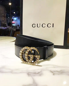Gucci Inspired Pearl Double G Belt