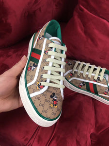 Gucci X Disney Inspired Printed Canvas Tennis Sneakers
