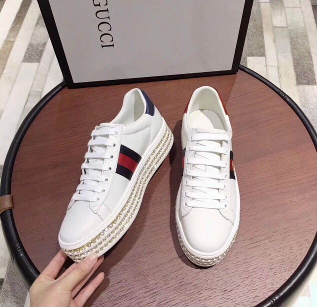 d2bbee5958f Gucci Inspired Ace Crystal Platform Sneaker – Celebrity Inspiracion