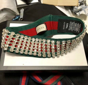Gucci Inspired Crystal Web Headband