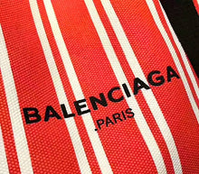 Balenciaga Inspired Cabas M Striped Shopper Tote
