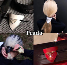 Prada Inspired Leather Hair Clip