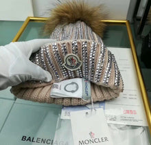 Moncler Inspired Studded Wool PomPom Hat