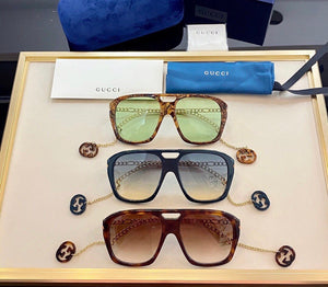 Gucci Inspired Square Sunglasses with Charms