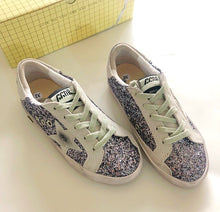 Golden Goose Inspired Superstar Glitter Platform Sneakers