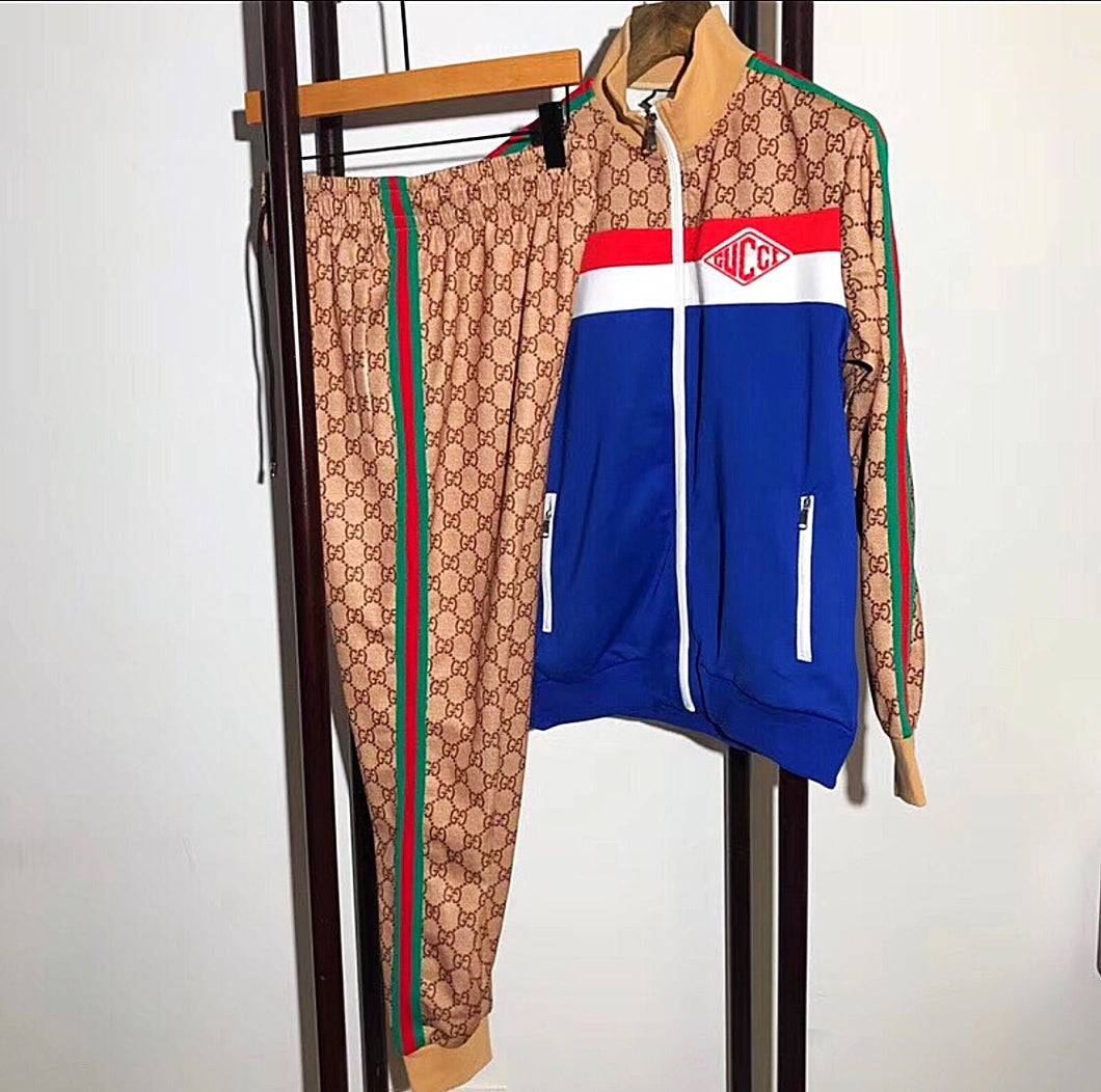 Gucci Inspired Technical Jersey Jacket and Jogging Pant