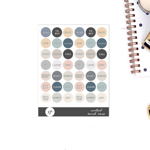 Neutral Icons || for Erin Condren Life Planner || Traveler's Notebook || Happy Planner || Planner Stickers