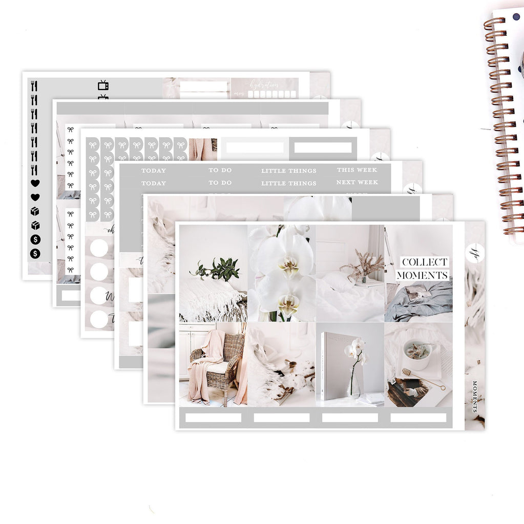 Moments  ||Weekly Planner Sticker Kit|| for Erin Condren Vertical Layout ||