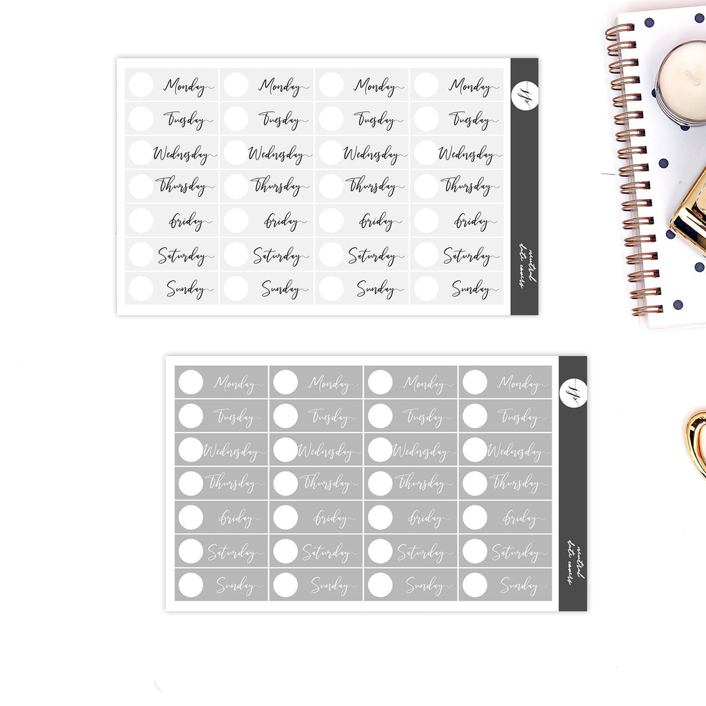 Neutral Date Covers Stickers || for Erin Condren Life Planner || Functional Stickers