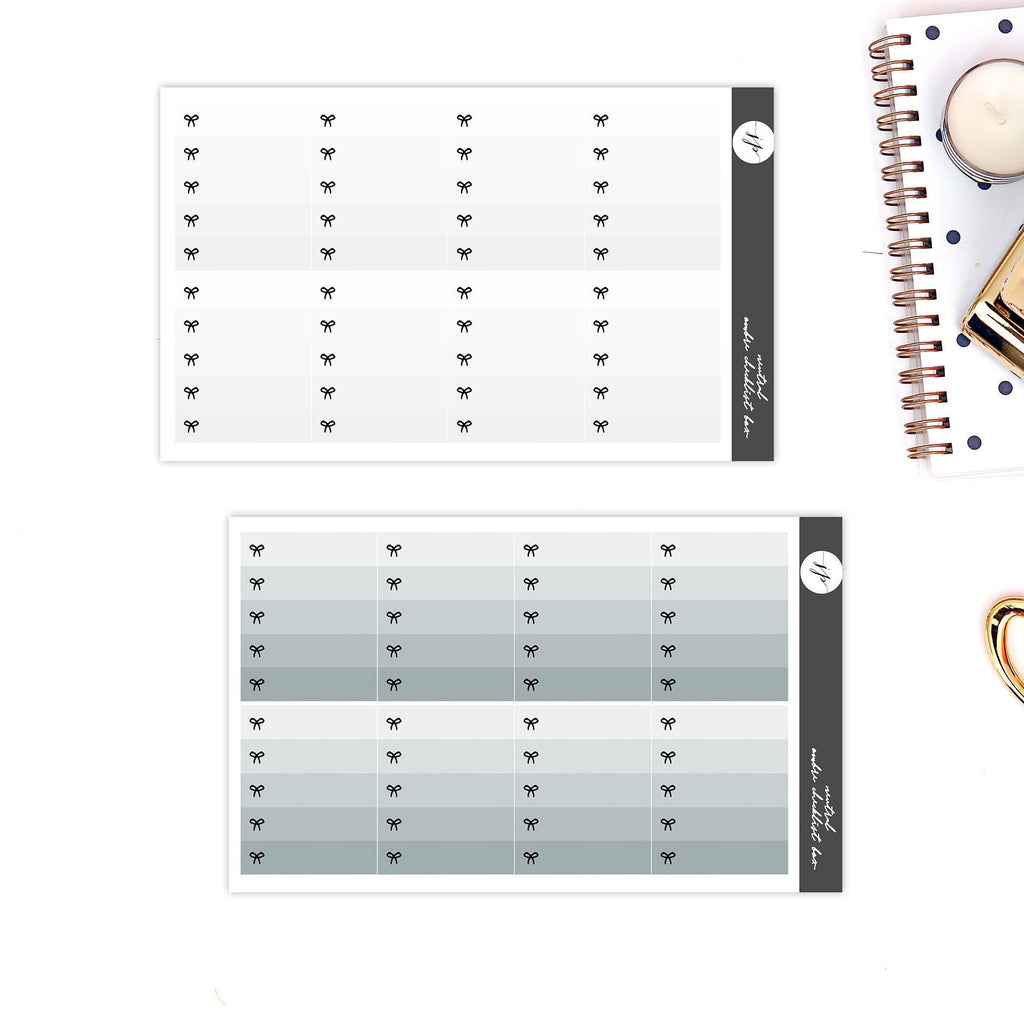 Neutral Ombre Checklist Full Boxes Stickers  || for Erin Condren Life Planner || Functional Stickers